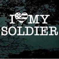 I love my soldier decals stickers