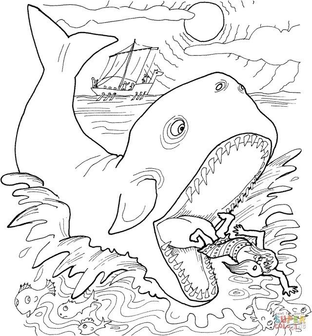 Jonah And The Whale Coloring Pages Whale Coloring Pages Jonah