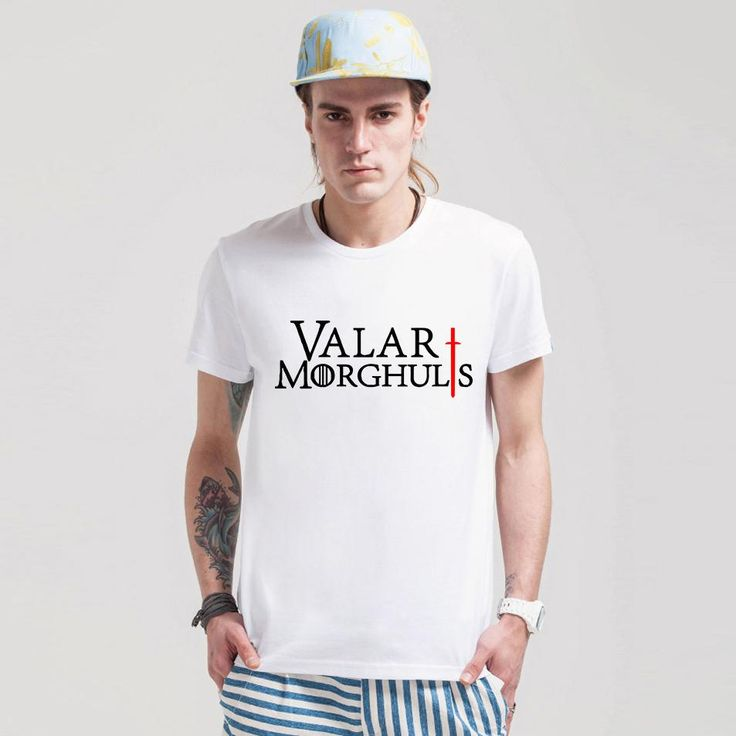 Low Price Valar Morghulis Game Of Thrones Camisetas Men Fashion Summer T Shirts A Song Of Ice Male Printed T-shirts Tees  //Price: $US $9.99 & FREE Shipping //     #gameofthronesmarathon #gameofthronestour #jonsnow #starks #sansastark #gameofthronesaddict