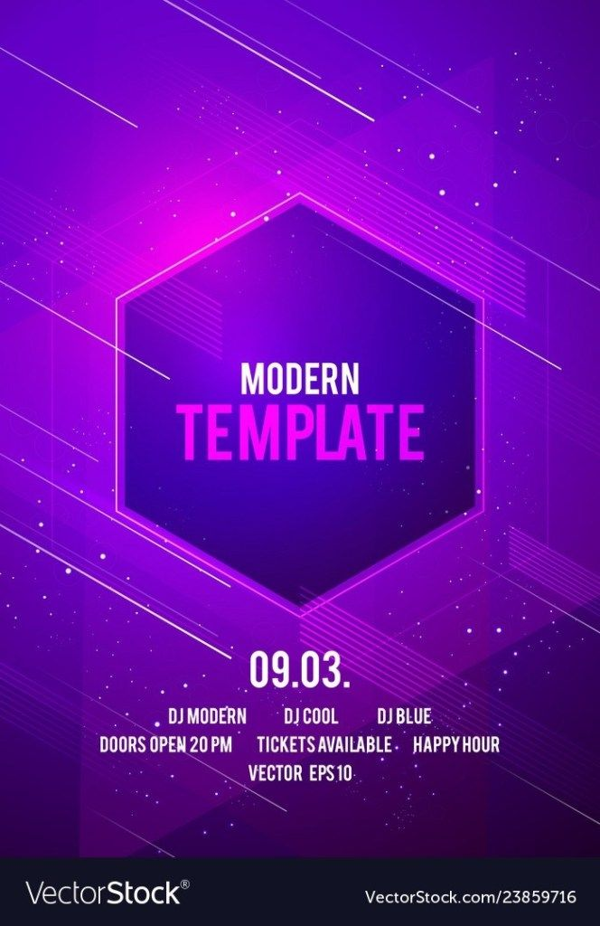 Dance Party Poster Background Template With Shapes Party Poster Flyer Psd Flyer Templates