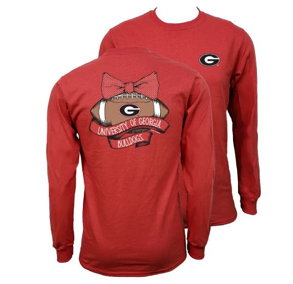 Southern Couture Georgia Bulldogs Vintage Football T-Shirt Available in sizes- S,M,L,XL,2X,3X