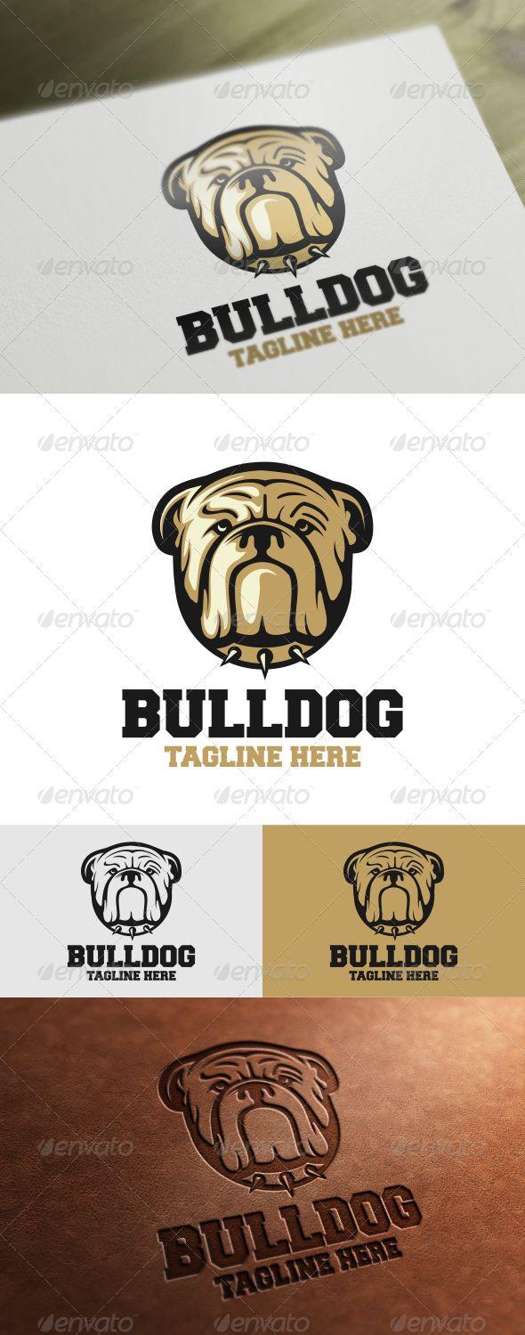 Bulldog Logo Template — Vector EPS #vector #bulldog • Available here → https://graphicriver.net/item/bulldog-logo-template/7228960?ref=pxcr