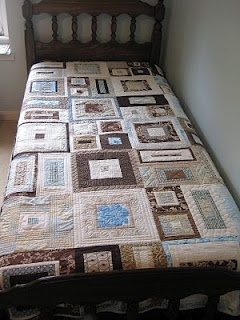interesting idea for a guy's quilt.