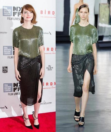 Эмма Стоун в платье от Jason Wu из коллекции весна-лето 2015