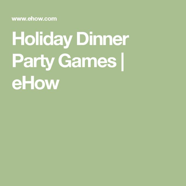 1000+ Ideas About Dinner Party Games On Pinterest