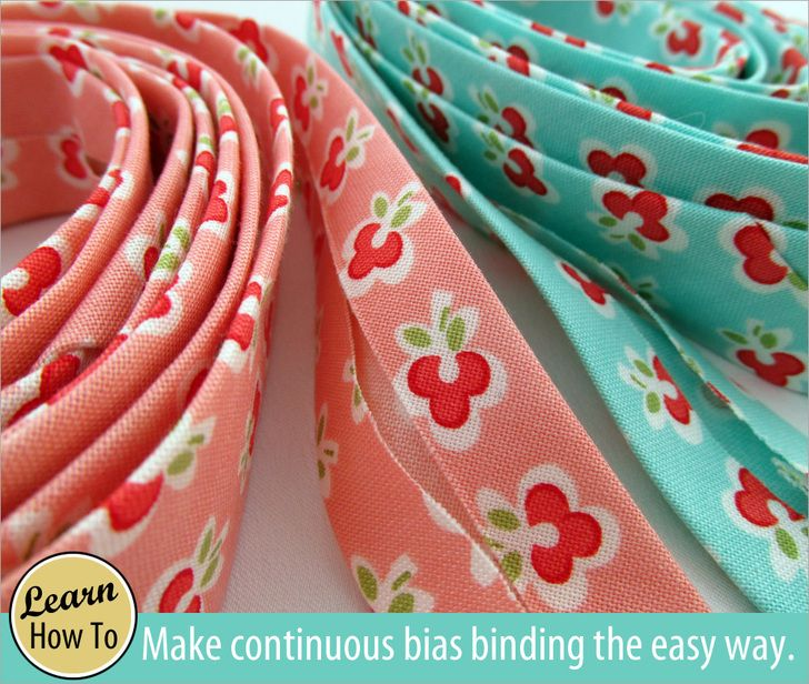 How to Make Your Own Continuous Bias Binding | Sew4Home