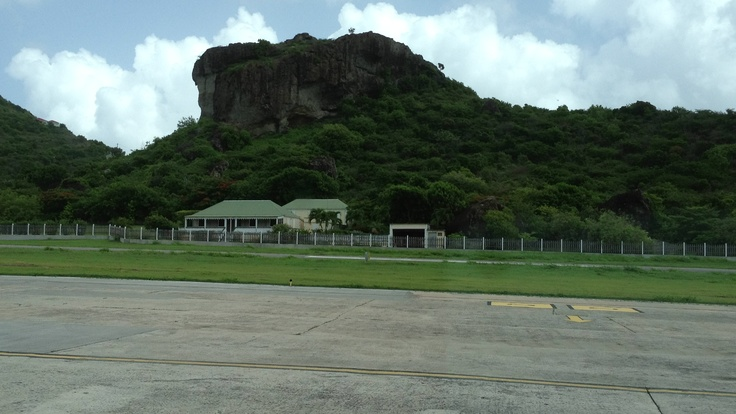 View from St Barth airport.