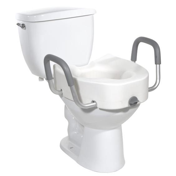 Drive Elongated Toilet Seat With Arms With Images Elongated