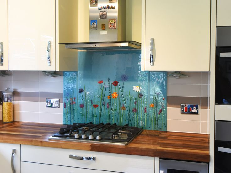This beautiful fused glass art panel is a bespoke glass splashback created  for a kitchen in Stirlin… | Glass splashback, Fused glass wall art, Glass  wall art panels