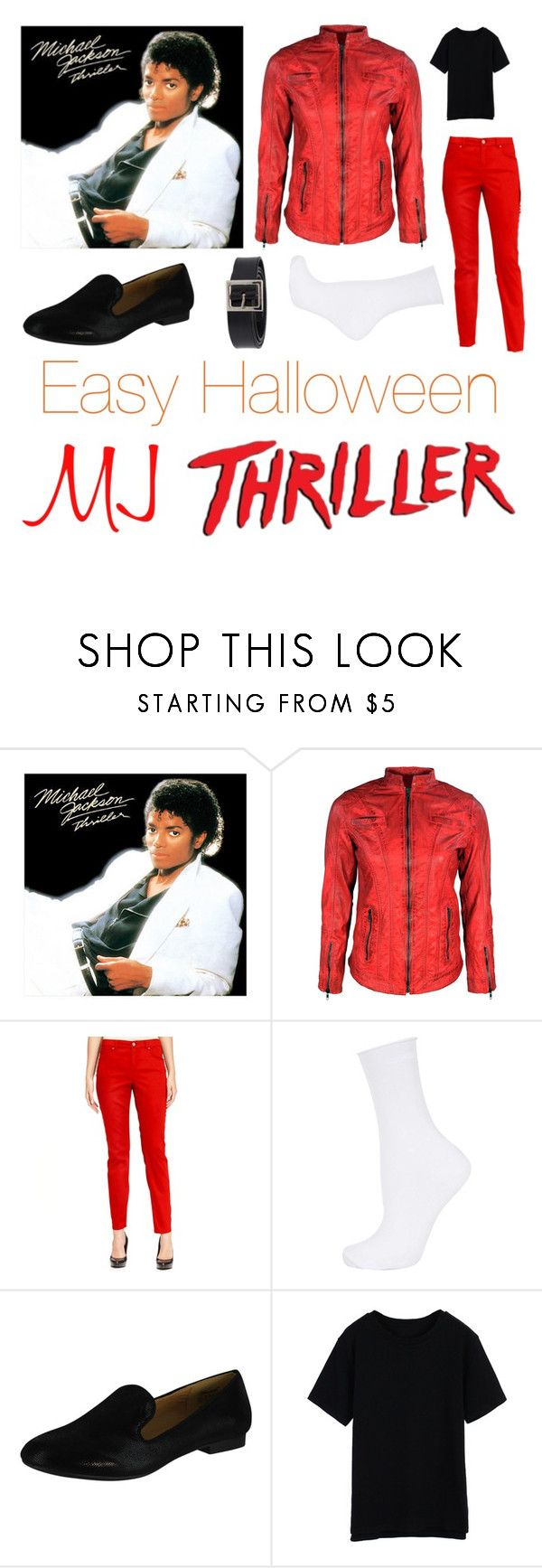 """""""Easy Halloween Costume: Michael Jackson Thriller"""" by thinkinsidethebox ❤ liked on Polyvore featuring VIPARO, Style & Co., Topshop, Wanted and Dolce&Gabbana"""
