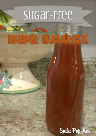 Delicious sugar-free BBQ sauce recipe. Only 2.7 grams of carbs per serving! Click for recipe. www.sodapopave.com