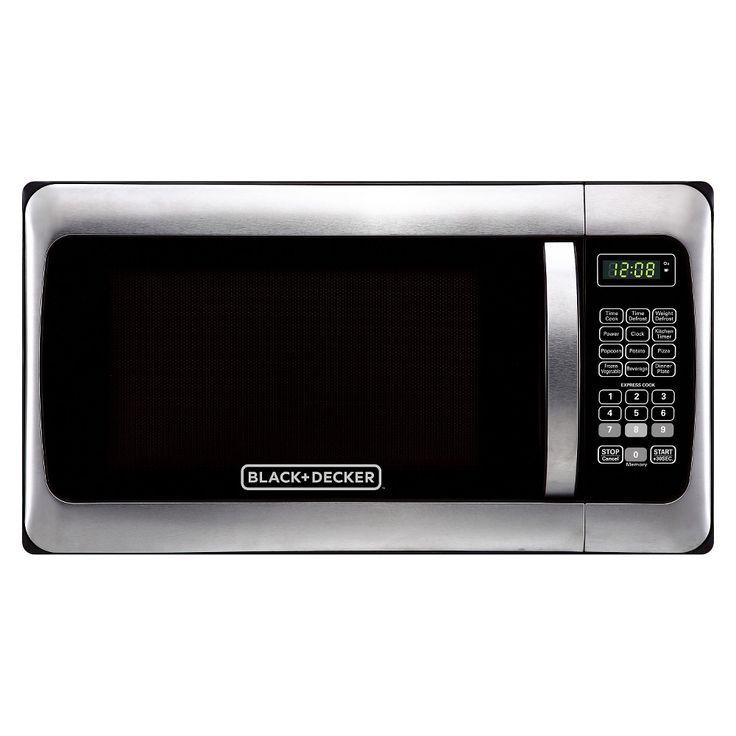 Black+decker 1.1 Cu. Ft. 1000 Watt Microwave Oven, Silver