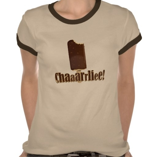 """Remember that video of the little boy whose brother bit his finger? Yes, """"Charlie bit me"""", that's the one! Now every time something gets bitten it's Charlie's fault, Show your lack of trust in Charlie with this """"Chaaarrliee!"""" T-shirt."""