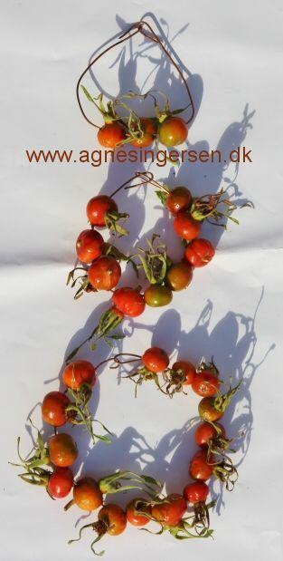 Hybenkranse om vi har lavet i min dagpleje: http://agnesingersen.dk/blog/hybenkranse - Easy kids crafts rosehip. Kinderbastelideen Hagebutte