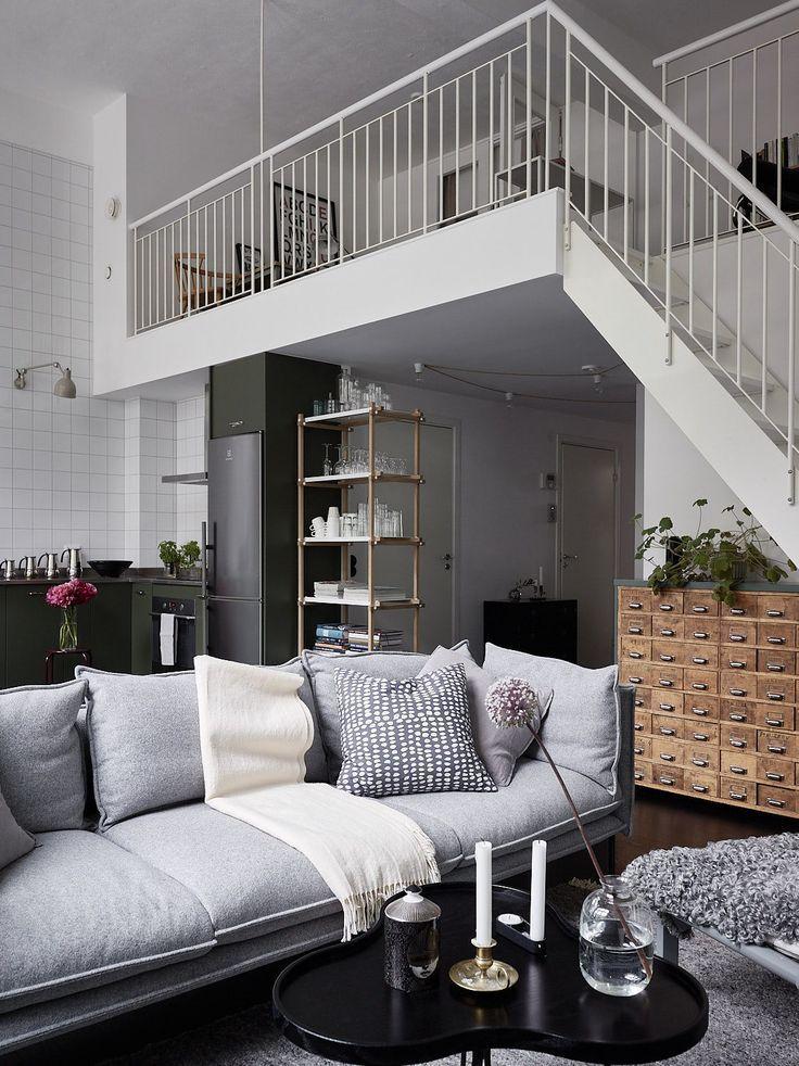 Living Room : Industrial Style Duplex Home Via Coco Lapine Design Blog |  Decors : Furniture | Pinterest | Wohnzimmer, Einrichtung Und Wohnen