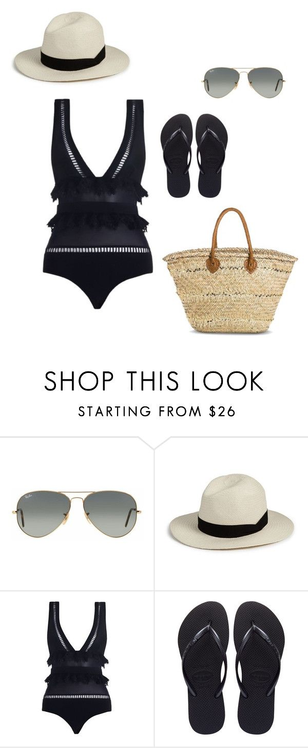"""""""Styling Mrs Oliver Beach"""" by stylingmrsoliver on Polyvore featuring Ray-Ban, rag & bone, Zimmermann, Havaianas and Merona"""