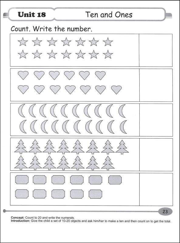 singapore math kindergarten worksheets essential math kindergarten b 045231 details. Black Bedroom Furniture Sets. Home Design Ideas