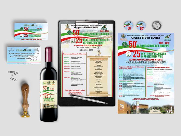 Creazione identità corporativa Alpini di Villa d'Adda. http://www.proximalab.it/graphic-design/