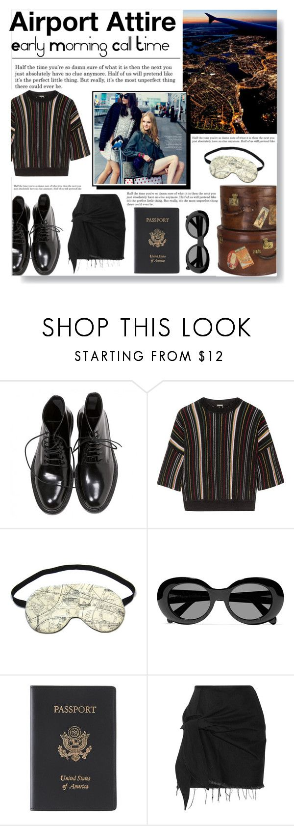 """Airport Attire"" by bella-dawson ❤ liked on Polyvore featuring Levi's, Yves Saint Laurent, ADAM, Acne Studios, Royce Leather, Marques'Almeida, airportstyle, polyvoreeditorial, polyvorecontest and polyvorefashion"
