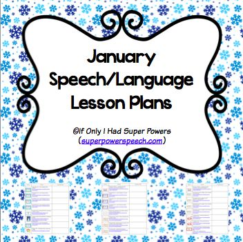 January Lesson Plans for Speech Therapy (FREE) by If Only I Had Super Powers