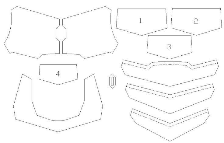 foam armor templates google search eva foam pinterest. Black Bedroom Furniture Sets. Home Design Ideas