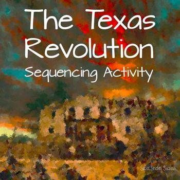 This is an activity to review the events leading to the Texas Revolution and major events in the revolution. It is perfect for a formative assessment or a review activity prior to a test. Your ELL learners will benefit from activities such as this from the visuals and discussion opportunities created.