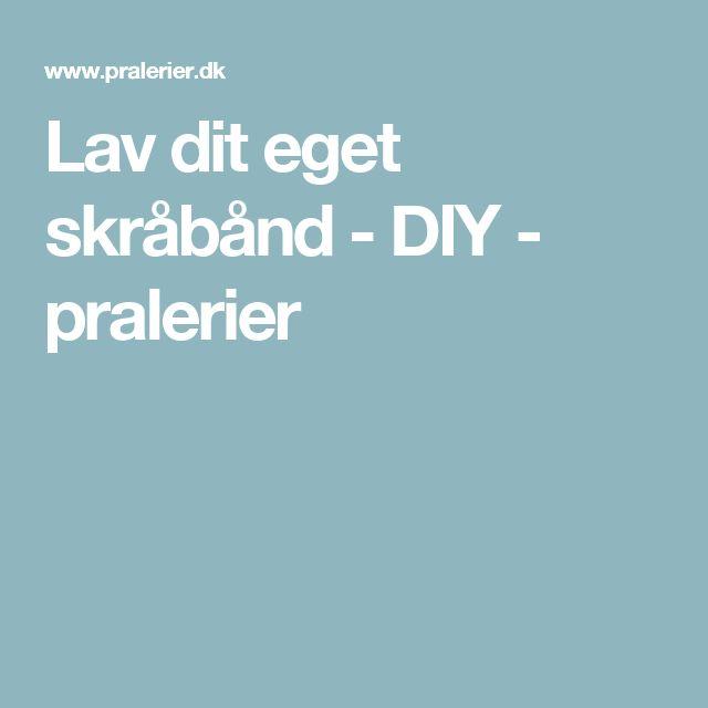 Lav dit eget skråbånd - DIY - pralerier