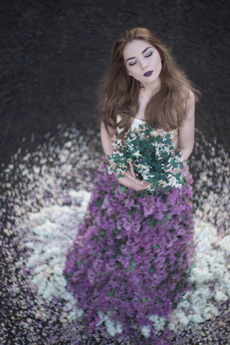 художественное фото, гелиос, платье из цветов, идеи фото, фотограф