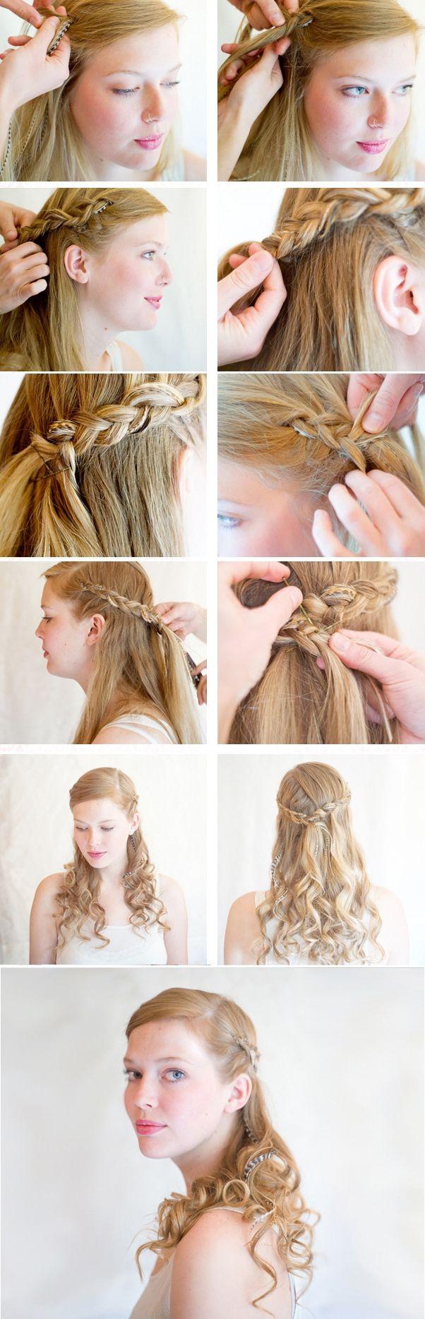 Коса вокруг головы   Как заплести косу вокруг головы