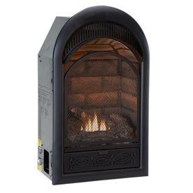 ProCom�29-in W 20,000-BTU Black Vent-Free Dual-Burner Gas Fireplace Firebox This is cool...