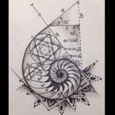 Fibonacci tattoo design ideas 13