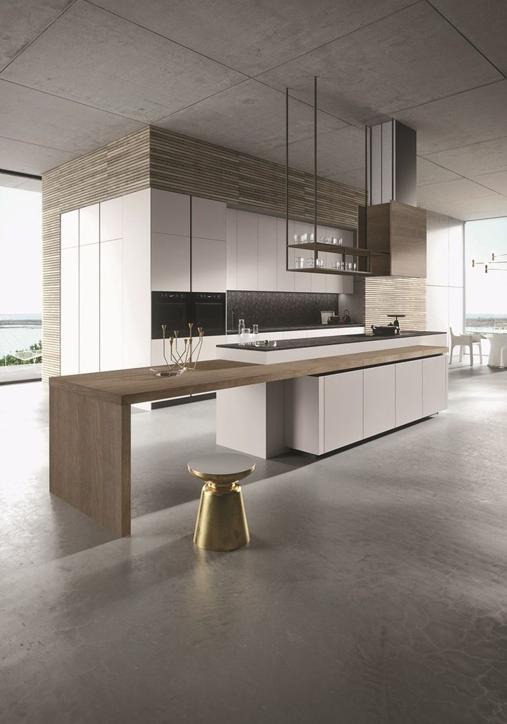 Wooden kitchen with island LOOK | Kitchen with island by Snaidero