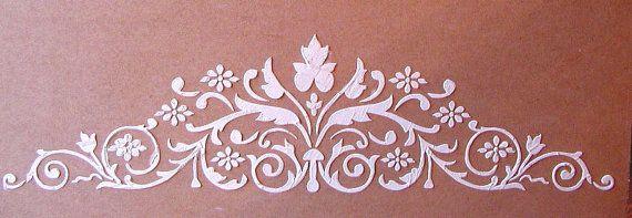 Soulevé de plâtre Canterbury Frise pochoir, pochoir Craft, pochoir mural, pochoir meubles, Peinture pochoir