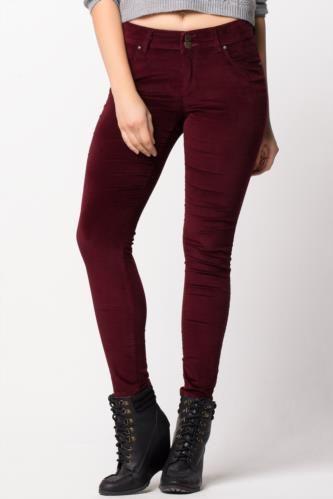 Pantolon - Kadife Süper Skinny Pantolon