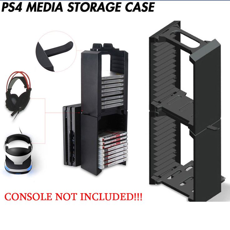 New in Box PS4 24 Games Disks DVD Bluray Holder Drawer Storage Stand Media Tower