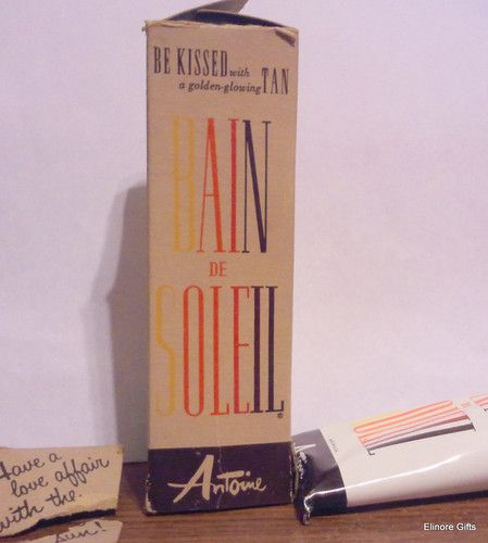 """vintage Bain De Soleil orange gelee """"for the St. Tropez tan""""  This was the BEST SUNTAN LOTION!!!! WHY DONT THEY STILL MAKE IT<<< IT WASNT CHEAP EITHER!!!"""