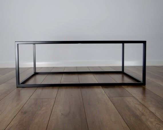 Qbic Steel Coffee Table Base 100x60cm Large Modern Coffee Table