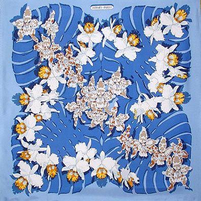 336 best hermes herm s fleurs et botanique images on pinterest hermes scarves silk scarves - Dessin d orchidee ...