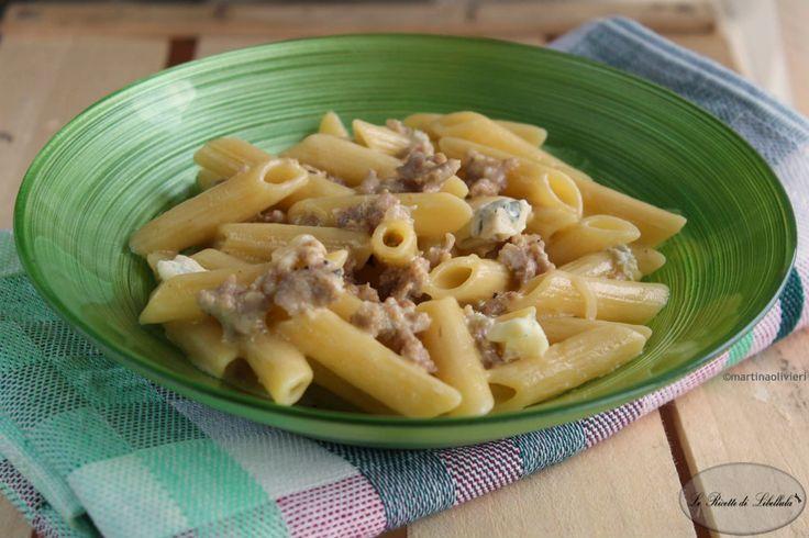 #Pasta al #gorgonzola e #salsiccia #ricetta #foodporn #gialloblogs