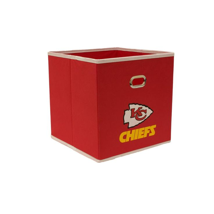 Kansas City Chiefs NFL Store-Its 10-1/2 in. W x 10-1/2 in. H x 11 in. D Red Fabric Drawer, Kansas City Chiefs/Red