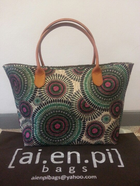 Green Embroidery Handmade Bag. Still Available, please contact niko.hendratmo@gmail.com for inquiry and orders worldwide