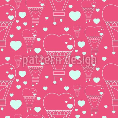 Heart Balloons Pattern Design Pattern Design by Elena Alimpieva at patterndesigns.com