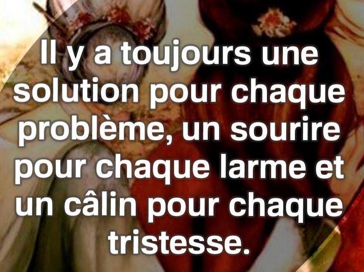 Il y a toujours une #solution pour chaque #problème , un #sourire pour chaque #larme et un #câlin pour chaque #tristesse !!! #citation #citations