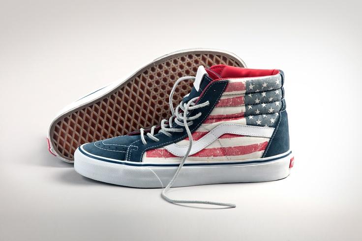 vans sk8 hi reissue american flag