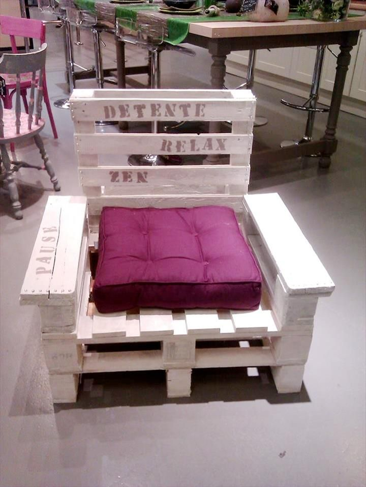 Pallet Chair - 300+ Pallet Ideas and Easy Pallet Projects You Can Try - Page 7 of 29 - Pallets Pro