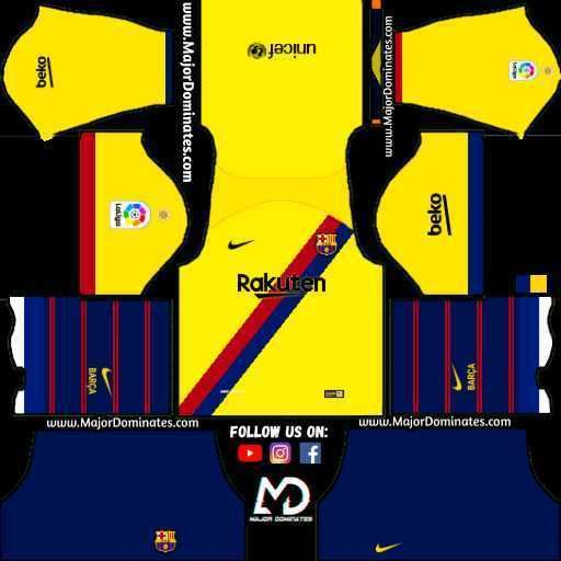 F C  Barcelona Nike Kits 2019 -20 For Dream League Soccer