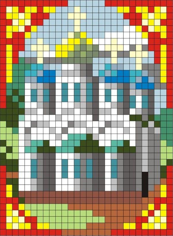Схема Храмы-миниатюры в цвете | biser.info - всё о бисере и бисерном творчестве