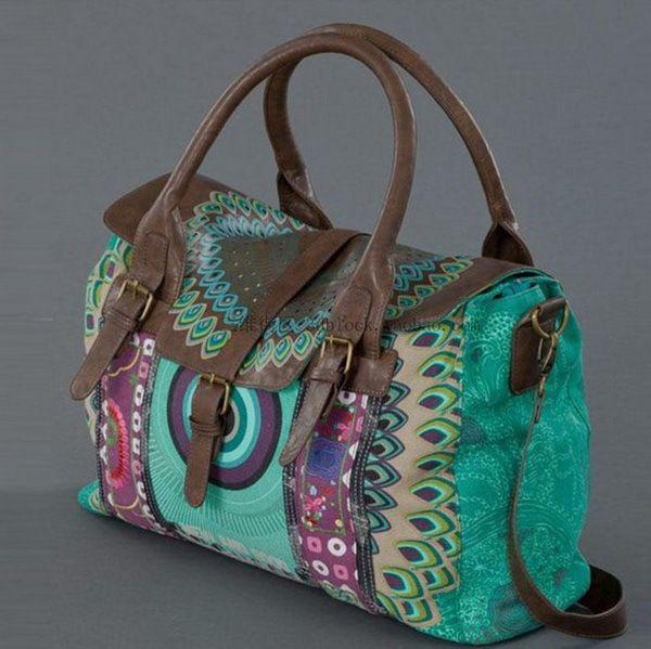 De spaanse desigual vintage canvas tas mode vrouwen canvas + pu lederen tassen handtassen vrouwen messenger in van op Aliexpress.com