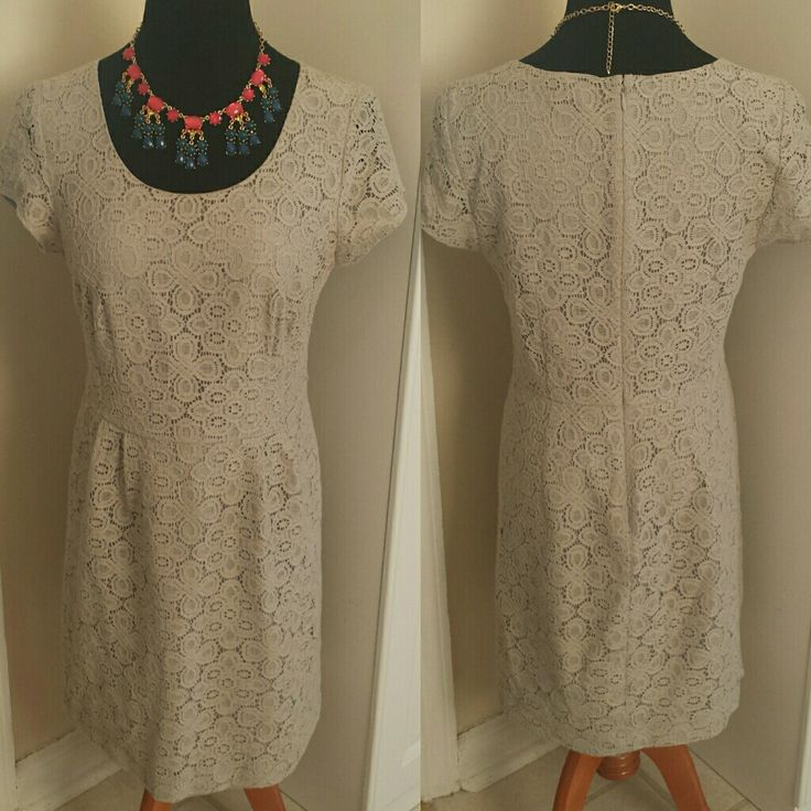 Bogo Free Limited Lace All Over Grey Work Dress
