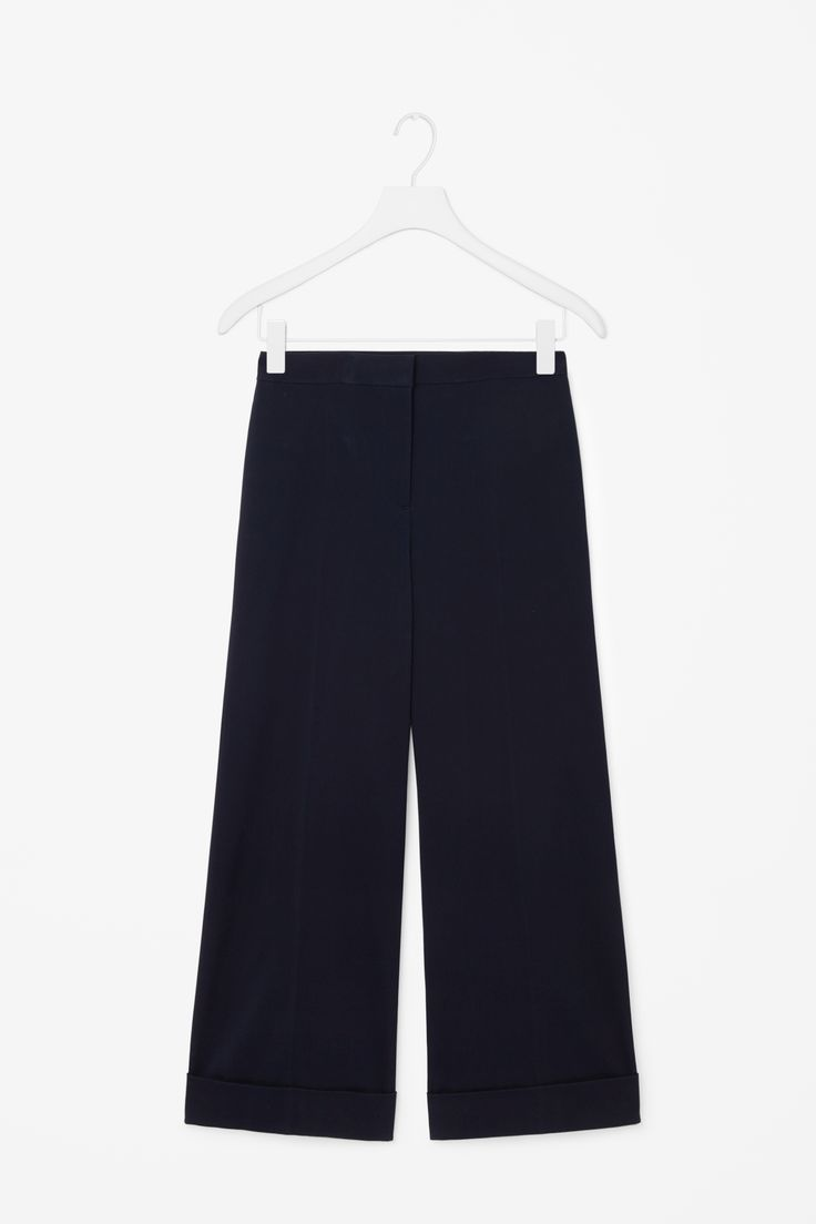 COS | Wide-leg trousers with turn-ups